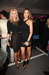 Left to right, DONNA AIR and LISA SNOWDON at a party to celebrate 150 years of TAG Heuer held at the car park at Selfridge's, London on 15th September 2010.