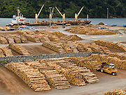 Picton's lumber port, South Island, New Zealand