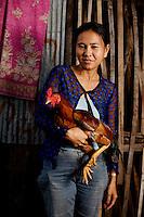Cockfighters, Phnom Penh, Cambodia