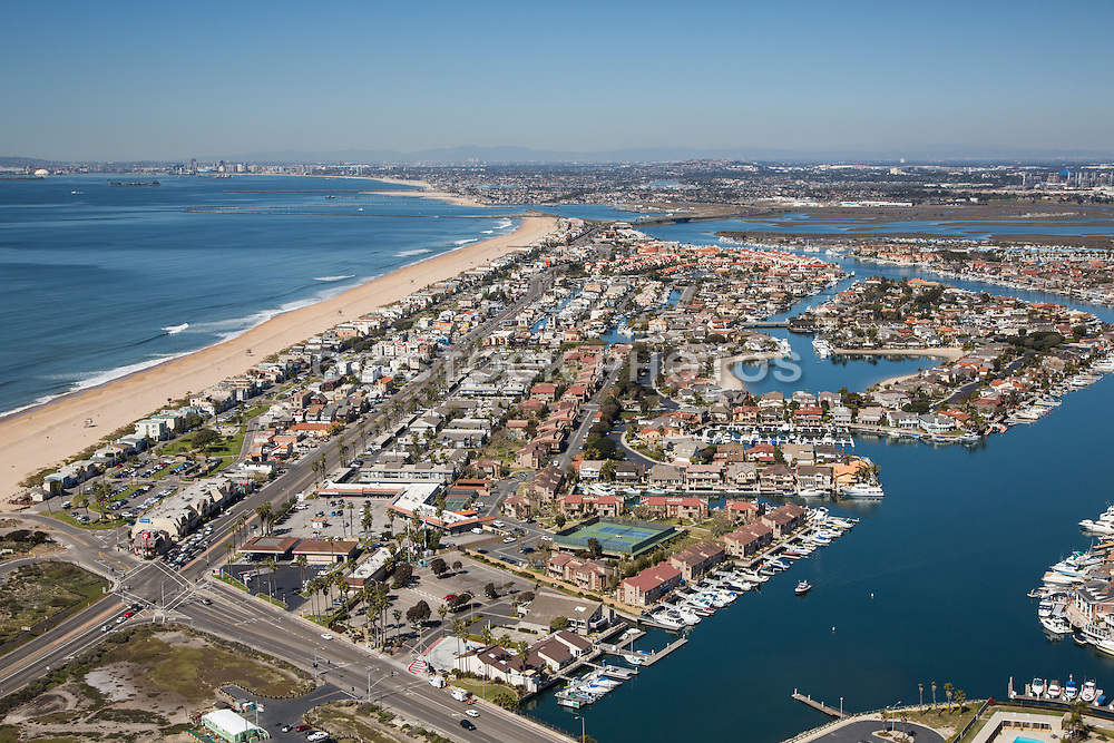 Aerial Stock Photo Of Sunset Beach Community In Huntington
