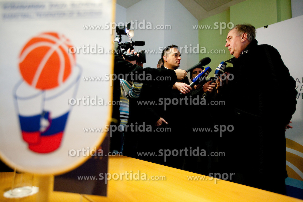 Serbian Bozidar Maljkovic at press conference of new head coach of Slovenian national basketball team, on December 21, 2010 in Hotel Turist, Ljubljana, Slovenia. (Photo By Vid Ponikvar / Sportida.com)