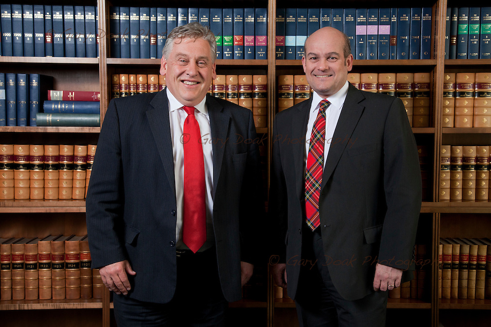 Cameron Ritchie, the new President of the Law Society of Scotland (left) with Austin Lafferty, new Vice-President