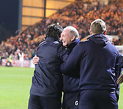 Dundee manager Paul Hartley and assistant boss Gerry McCabe at full time - Dundee v Dundee United - SPFL Premiership at Dens Park<br /> <br />  - &copy; David Young - www.davidyoungphoto.co.uk - email: davidyoungphoto@gmail.com