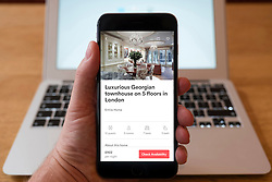 View of luxury London house for rent on Airbnb house/room sharing app