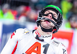 "29.01.2019, Planai, Schladming, AUT, FIS Weltcup Ski Alpin, Slalom, Herren, 2. Lauf, im Bild Michael Matt (AUT) // Michael Matt of Austria reacts after his 2nd run of men's Slalom ""the Nightrace"" of FIS ski alpine world cup at the Planai in Schladming, Austria on 2019/01/29. EXPA Pictures © 2019, PhotoCredit: EXPA/ JFK"