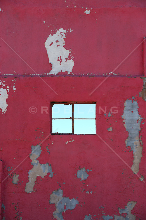 window on an abandoned building