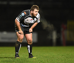 Huw Dowden of Pontypridd<br /> <br /> Photographer Mike Jones/Replay Images<br /> <br /> Principality Premiership - Neath v Pontypridd - Friday 16th March 2018 - The Gnoll Neath<br /> <br /> World Copyright © Replay Images . All rights reserved. info@replayimages.co.uk - http://replayimages.co.uk