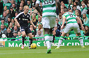 Dundee's Nicky Low and Celtic's Scott Brown  - Celtic v Dundee - Ladbrokes Premiership at Celtic Park<br /> <br /> <br />  - © David Young - www.davidyoungphoto.co.uk - email: davidyoungphoto@gmail.com