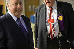 © Licensed to London News Pictures . 29/09/2017 . Torquay , UK . Delegates at the conference venue . The UK Independence Party Conference at the Riviera International Centre . UKIP is due to announce the winner of a leadership election which has the potential to split the party . Photo credit: Joel Goodman/LNP