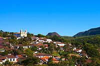 old village of tiradente in minas gerais state brazil
