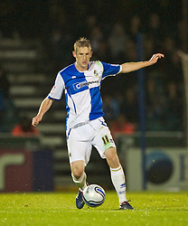 BRISTOL, ENGLAND - Tuesday, September 28, 2010: Bristol Rovers' Jeff Hughes in action against Tranmere Rovers during the Football League One match at the Memorial Ground. (Photo by David Rawcliffe/Propaganda)