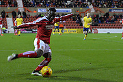 Swindon Town midfielder Drissa Traore during the Sky Bet League 1 match between Swindon Town and Scunthorpe United at the County Ground, Swindon, England on 14 November 2015. Photo by Mark Davies.