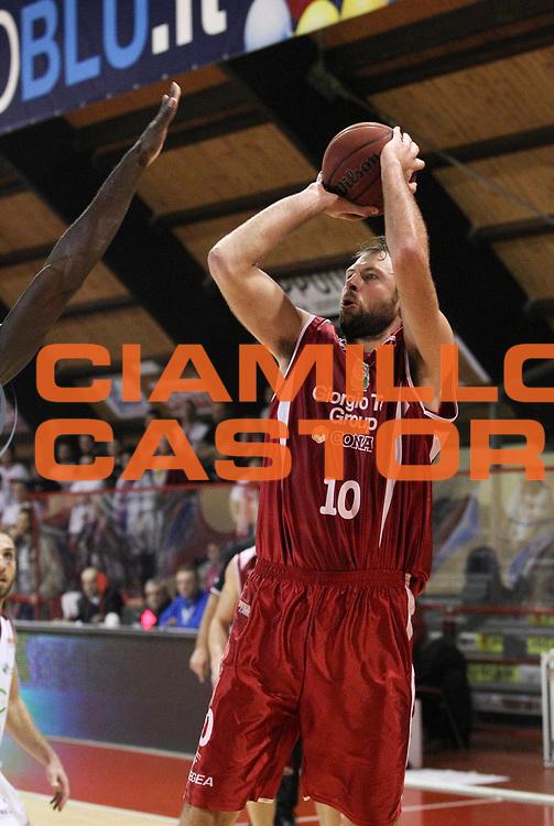 DESCRIZIONE : Ferentino Campionato Lega A2 2012-2013 Fmc Ferentino Giorgio Tesi Group Pistoia <br /> GIOCATORE : Giacomo Galanda<br /> CATEGORIA : three points<br /> SQUADRA : Giorgio Tesi Group Pistoia<br /> EVENTO : Campionato Lega A2 2012-2013<br /> DATA : 20/01/2013<br /> SPORT : Pallacanestro <br /> AUTORE : Agenzia Ciamillo-Castoria/N. Dalla Mura<br /> Galleria : Lega Basket A2 2012-2013 <br /> Fotonotizia : Ferentino Campionato Lega A2 2012-2013 Fmc Ferentino Giorgio Tesi Group Pistoia