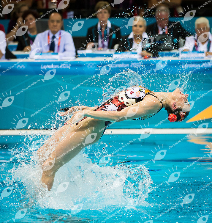 Ischenko - Romashina Russia RUS.Synchronized Swimming duet Final - gold medal.London 2012 Olympics - Olimpiadi Londra 2012.day 12 Aug.7.Photo G.Scala/Deepbluemedia.eu/Insidefoto