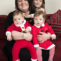 Josie Pafitt pictured with her daughter Bethany (8) and her 'miracle' twins Ollie and Hope who have just celebrated their first birthday…16.12.16<br />