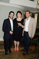 Left to right, MAX GOTTSCHALK, SARAH VINE wife of Michael Gove MP and CHRIS THOMSON at a party to celebrate the publication of Restaurant Babylon by Imogen Edwards-Jones held at Little House, 12a Curzon Street, London on 2nd July 2013.