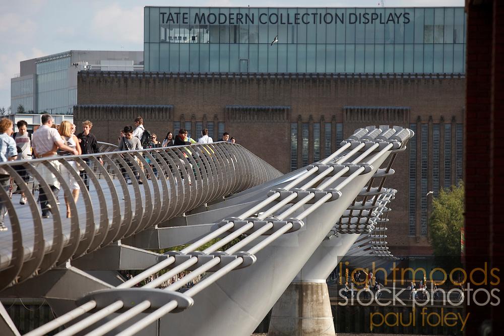 The Tate Modern Musuem  and Millenium Bridge, London, UK