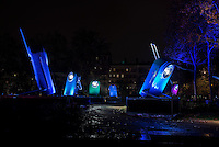 LYON, FRANCE - DECEMBER 04: For four nights over 70 light installations will create a magical atmosphere in the streets, squares and parks all over the city and millions of visitors both French and from abroad will enjoy the friendly and joyful spirit of this unique event on December 4, 2014 in Lyon, France. (Photo by Bruno Vigneron/Getty Images)<br /> Pocket Lights<br /> Place Mar&eacute;chal Lyautey , Lyon 6<br /> Artist<br /> TILT<br /> At the end of Morand Bridge, high over Place Lyautey, you will find a giant version of ever-enduring pocket lights. With their vintage colors, they illuminate different points of space with multiple shades, creating a joyful, warm atmosphere. Give in to sweet nostalgia while you contemplate these dozen pocket lights as they turn on, blink and change color, seeming to converse with each other.<br /> <br /> Opening hours<br /> Friday 5th and Saturday 6th: from 6 p.m to 1 a.m<br /> Sunday 7th: from 5:30 p.m to midnight<br /> Monday 8th: from 6 p.m to midnight<br /> Metro Line A - Foch stop or go to Place Lyautey from Place Louis Pradel by crossing the Morand Bridge
