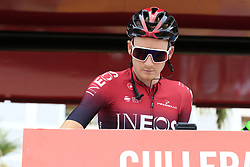 Tao Geoghegan Hart (GBR) Team Ineos at sign on before the start of Stage 4 of La Vuelta 2019 running 175.5km from Cullera to El Puig, Spain. 27th August 2019.<br /> Picture: Eoin Clarke | Cyclefile<br /> <br /> All photos usage must carry mandatory copyright credit (© Cyclefile | Eoin Clarke)