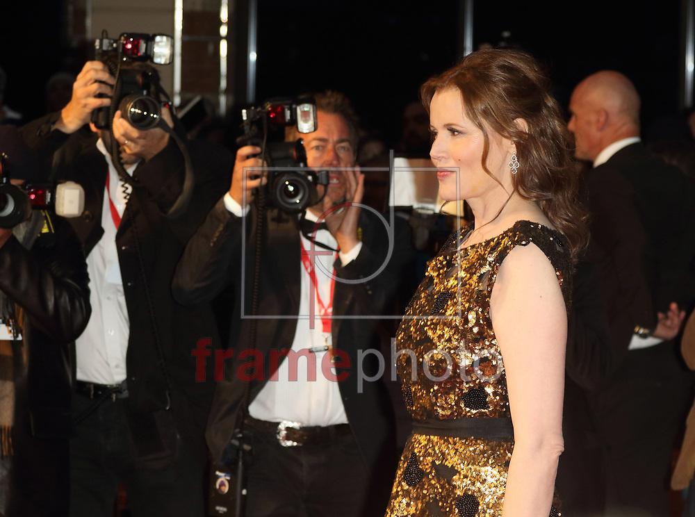 FESTIVAL DE CINEMA DE LONDRES SUFFRAGETTE – INGLATERRA – 07/10/2015 - *BRAZIL ONLY* ATENCAO EDITOR, FOTO EMBARGADA PARA VEICULOS INTERNACIONAIS - wenn22991196 Geena Davis durante a abertura do Festival de Cinema de Londres com o filme Suffragette no Odeon, na Leicester Square, em Londres, na quarta-feira. O filme homenageia as sufragistas do Reino Unido que lutaram pelo direito de voto das mulheres. FOTO: WENN/FRAME