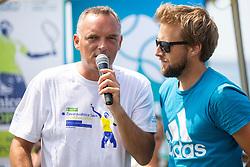Gasper Bolhar and Tom Kocevar Desman at press conference of ATP Challenger Zavarovalnica Sava Slovenia Open 2018, on August 6, 2018 in Sports centre, Portoroz/Portorose, Slovenia. Photo by Urban Urbanc / Sportida