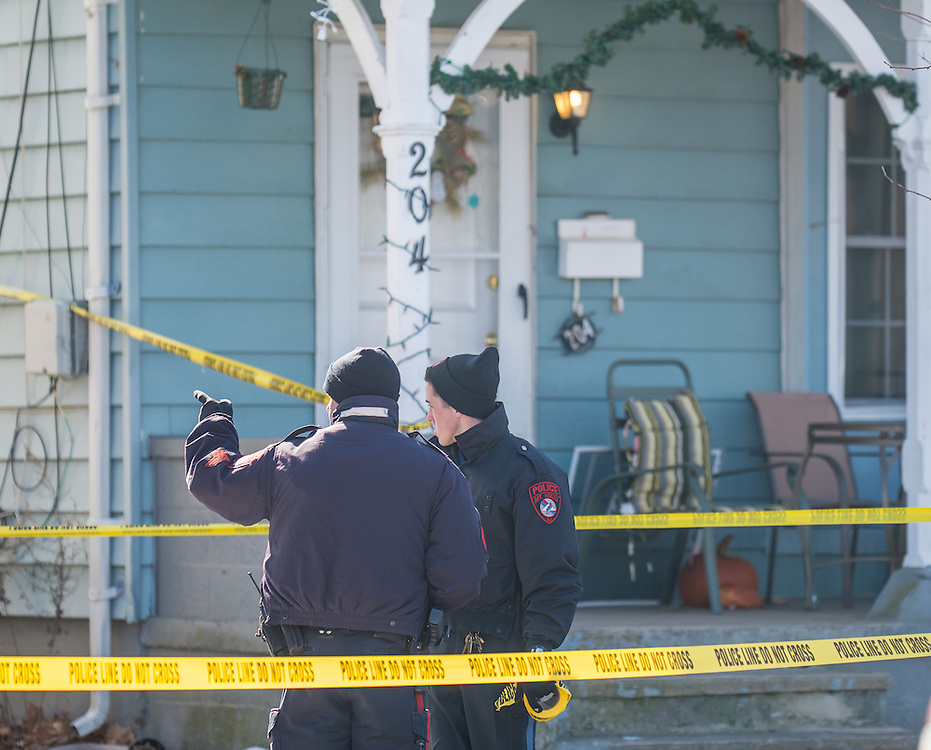 Police are investigating a death at 204 Washington St in Mount Holly, N.J., Saturday, January 31, 2015.  Photo by Bryan Woolston / @woolstonphoto.