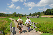 Colonial and Native American reenactment. Fort Necessity National Battlefield Pennsylvannia