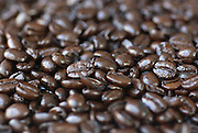 Close-up of espresso coffee beans.