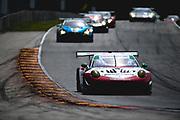 August 5 2018: IMSA Weathertech Continental Tire Road Race Showcase. 58 Wright Motorsports, Porsche 911 GT3 R, Patrick Long, Christina Nielsen