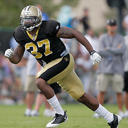 04 August 2009: Saints rookie safety Chip Vaughn in action during New Orleans Saints training camp at the team's practice facility in Metairie, Louisiana.