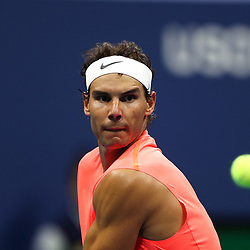 Rafael Nadal of Spain  on Day 5 of the 2018 US Open at Flushing Meadows Corona Park on August 31, 2018 in New York City. (Photo byMarek Janikowski/Icon Sport)