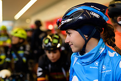 Lourdes Oyarbide on the start line at Ronde van Drenthe 2018 - a 157.2 km road race on March 11, 2018, from Emmen to Hoogeveen, Netherlands. (Photo by Sean Robinson/Velofocus.com)