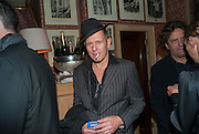 PAUL SIMONON , Charles Finch and  Jay Jopling host dinner in celebration of Frieze Art Fair at the Birley Group's Harry's Bar. London. 10 October 2012.