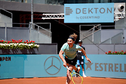 May 4, 2019 - Madrid, Spain - Svetlana Kuznetsova of Russia in action against Aryna Sabalenka of Belarus during day one of the Mutua Madrid Open at La Caja Magica in Madrid on 4th May, 2019. (Credit Image: © Juan Carlos Lucas/NurPhoto via ZUMA Press)