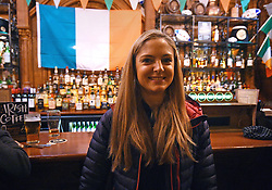 Suzie Crawford in Waxy OÕConnorÕs in Leicester Square, London ahead of tomorrow's Six Nations match against England at Twickenham.