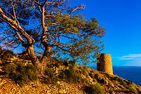 Cerro Gordo Watchtower, Costa Tropical, Granada Province, Andalusia, Spain.