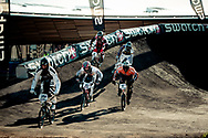 #777 (WILLERS Marc) leading his heat and eventually winning the 2011 UCI BMX Supercross World Cup in London