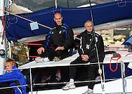 07-01-2009 Voetbal:Willem II:Trainingskamp:Torremolinos:Spanje<br /> Willem II ging vanochtend met een catamaran de open zee op in Spanje. <br /> Maikel Aerts zit als opperhoofd op de Catamaran naast Mari van Iersel<br /> Foto: Geert van Erven