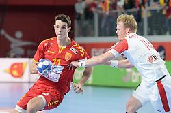 Filip Taleski of Macedonia during handball match between National teams of Macedonia and Denmark on Day 7 in Main Round of Men's EHF EURO 2018, on January 24, 2018 in Arena Varazdin, Varazdin, Croatia. Photo by Mario Horvat / Sportida