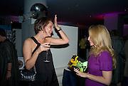 Saffron Aldridge; Princess Alexandra von Furstenburg, Exhibition opening ' Alan Aldridge- The Man With Kaleidoscope Eyes' hosted by his daughter Saffron Aldridge. Design Museum. Shad Thames. London  SE1. *** Local Caption *** -DO NOT ARCHIVE -Copyright Photograph by Dafydd Jones. 248 Clapham Rd. London SW9 0PZ. Tel 0207 820 0771. www.dafjones.com