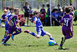 19 April 2015. New Orleans, Louisiana.<br /> U9 New Orleans Jesters Elites, Purple team draw 2-2 with Gulf Coast United. <br /> Photo; Charlie Varley/varleypix.com