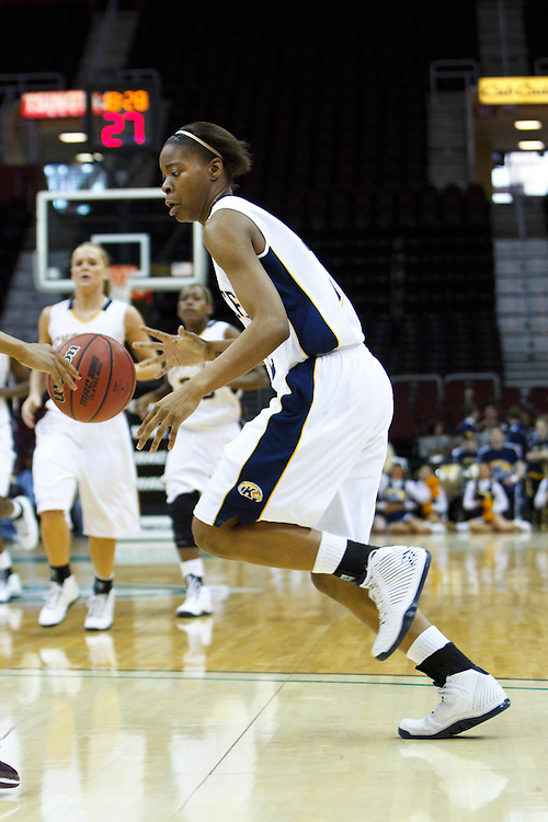 13 March 2010:  Kent State's Taisja Jones (32) during the MAC Tournament game basketball game between Kent State and Central Michigan at Quicken Loans Arena in Cleveland, Ohio.