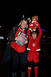 CARDIFF, WALES - Tuesday, November 14, 2017: A Wales supporter before the international friendly match between Wales and Panama at the Cardiff City Stadium. (Pic by Peter Powell/Propaganda)