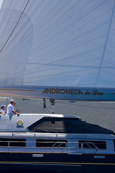 Andromeda racing at the St. Barth Bucket.