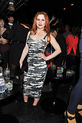 Singer KATY B at a party hosted by TopShop to celebrate 10 years of NEWGEN and 10 years of supporting Brtish Fashion held at Le Baron, 29 Old Burlington Street, London W1 on 21st February 2012.