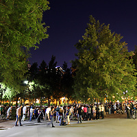 A general view of the area during an Occupy Orlando public demonstration in support of Occupy Wall Street gatherings across the country, at the Orange County History Center on Wednesday, October 5, 2011 in Orlando, Florida. (AP Photo/Alex Menendez)