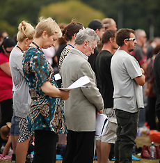 Christchurch-Memorial Service at Hagley Park