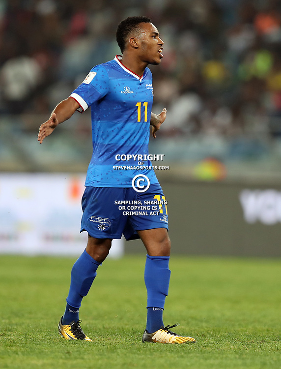 Garry Rodrigues of Cape Verde during the 2018 Football World Cup qualifier  match between South Africa (Bafana Bafana)  and Cape Verde Islands,at the Moses Mabhida Stadium in Durban South Africa Tuesday, September 5,2017.  (Photo by Steve Haag)