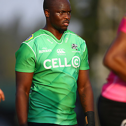 Tera Mtembu of the Cell C Sharks during the Cell C Sharks training, Jonsson Kings Park Stadium,Durban South Africa.27,06,2018 Photo by (Steve Haag REX Shutterstock )