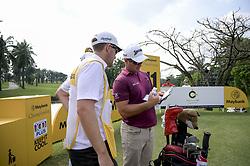 March 22, 2019 - Kuala Lumpur, Malaysia - Ryan Fox (C)of New Zealand in action on Day Two of the Maybank Championship at Saujana Golf and Country Club on March 22, 2019 in Kuala Lumpur, Malaysia  (Credit Image: © Chris Jung/NurPhoto via ZUMA Press)